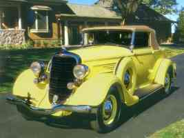 1934 Dodge Convertible Coupe Yellow fvl