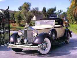 1934 Packard V 12 Convertible Coupe Cream Brown fvl