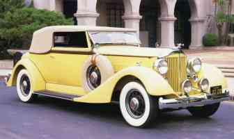 1934 Packard V 12 Dietrich Victoria Cabriolet Yellow fvr