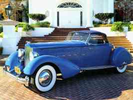 1934 Packard V 12 Speedster by LeBaron Blue fvl