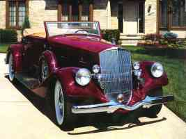 1934 Pierce Arrow Salon Twelve Convertible Maroon fvr