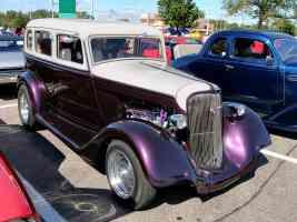 1934 Plymouth 4 Door Sedan Street Rod Small Block Mopar Engine Metallic Purple Cream fvr 2006 Dream Cruise CL