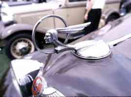 1934 Pontiac 3 Window Coupe Radiator Ornament 35mm Hershey PA 1970