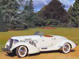 1935 Auburn 851 Supercharged Speedster Cream fvl