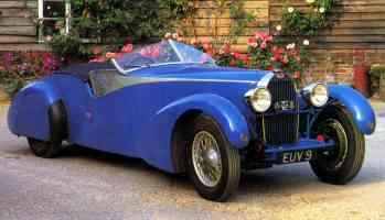 1935 Bugatti Type 57T Roadster Blue fvr