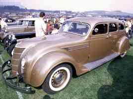 1935 Chrysler Imperial Airflow 4 Door Sedan Tan Metallic fsv 35mm Hershey PA 1970