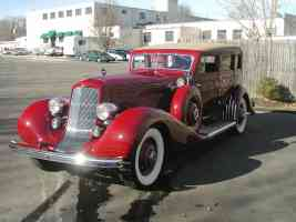 1935 Duesenberg Derham 4 Door Sedan Red fvl