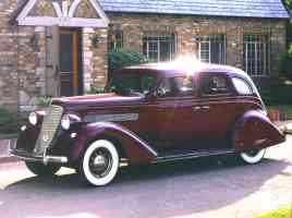 1935 Nash Advanced Six Aeroform 4 Door Sedan Maroon fvl