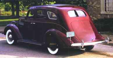 1935 Nash Advanced Six Aeroform 4 Door Sedan Maroon rvl