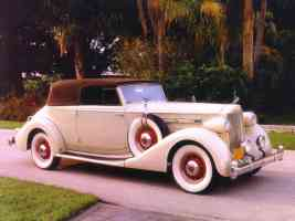 1935 Packard Victoria Convertible Coupe Cream fsvr