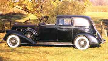 1935 Pierce Arrow Limousine Black sv