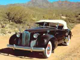 1936 Cord 810 2 Door Convertible Phaeton Dark Brown fvl