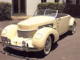 1936 Cord 810 Convertible Yellow fvl