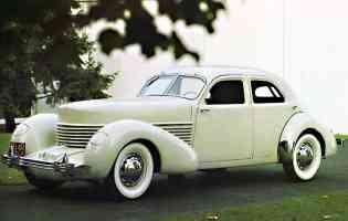 1936 Cord Westchester 816 Sedan Cream fvl