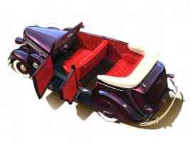 1936 Dodge D 2 4 Door Convertible Art Work Deep Burgandy High rvl