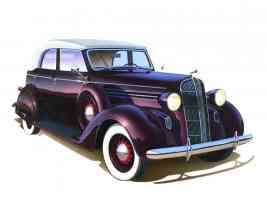 1936 Dodge D 2 4 Door Convertible Art Work Deep Burgandy fvr