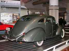 1936 Lincoln Zephyr 4 Door Sedan Olive Gray rvr H Ford Museum CL