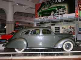 1936 Lincoln Zephyr 4 Door Sedan Olive Gray svr H Ford Museum CL