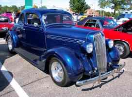 1936 Plymouth Chopped 5 Window Coupe Mild Custom Metallic Blue fvr 2006 Dream Cruise CL
