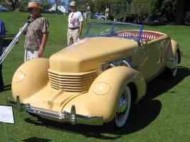 1937 Cord 812 SC Phaeton yel fvl