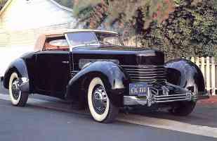 1937 Cord 812 Sportsman Convertible Black fvl