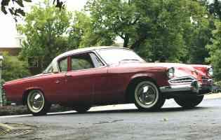 1954 Studebaker Commander 2 Door Coupe Red fvr