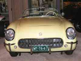 1955 Chevrolet Corvette Roadster Light Yellow fv H Ford Museum N