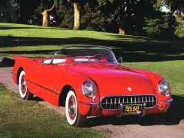 1955 Chevrolet Corvette V 8 Convertible Red fvr