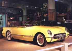 1955 Chevrolet Corvette V 8 Roadster Yellow fvr