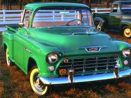 1955 Chevrolet Task Force Pickup Green fvl