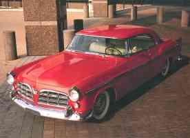 1955 Chrysler C 300 at Chrysler Technology Center Lobby Red High fvl