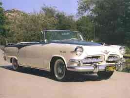 1955 Dodge Royal Lancer Convertible Cream Black fvr