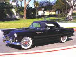 1955 Ford Thunderbird Roadster with Hardtop Black fvl