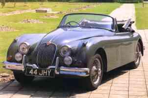 1955 Jaguar XK150 Drop Head Coupe Grey fvl