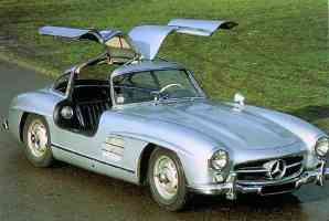 1955 Mercedes Benz 300 SL Gull Wing Coupe Light Blue fvr