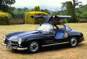 1955 Mercedes Benz 300SL Gull Wing Coupe Black fvl