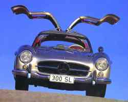 1955 Mercedes Benz 300SL Gullwing Coupe Silver fv