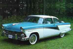1955 Meteor Rideau Crown Victoria 2 Door Coupe Blue White fvl