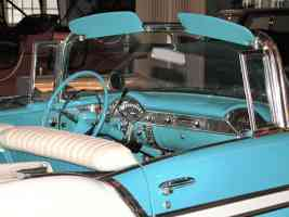 1956 Chevrolet Bel Air Convertible Aqua White Instrument Panel H Ford Museum N