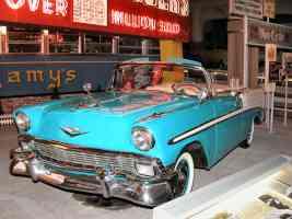 1956 Chevrolet Bel Air Convertible Aqua White fvl H Ford Museum N