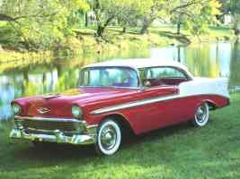 1956 Chevrolet Bel Air Sport Coupe Red White fvl