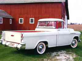 1956 Chevrolet Cameo Pickup White rvr