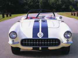 1956 Chevrolet Corvette Convertible Race Car Prepared by Smokey Yunick White fv