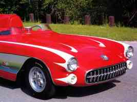 1956 Chevrolet Corvette SR 2 Race Car Red fvr Clip