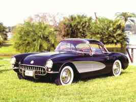 1956 Chevrolet Corvettte Convertible with Hardtop Black fvl
