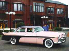1956 DeSoto Firedome 4 Door Sedan Pink Black fsvr