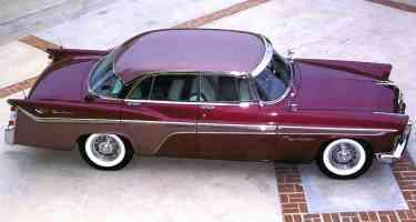1956 DeSoto Fireflite Sportsman 4 Door Hardtop Burgandy Top sv