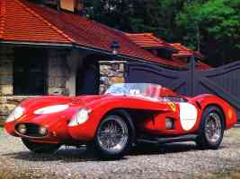 1956 Ferrari TR 500 LeMans Race Car Red fvl