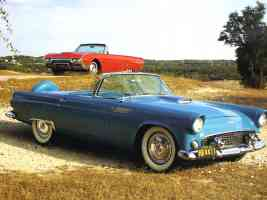 1956 Ford Thunderbird Roadster Turquoise 1962 Thunderbird Convertible Red fvl