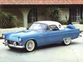 1956 Ford Thunderbird Roadster with Port Hole Hardtop Blue fvl